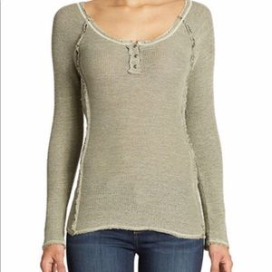 New Free People rag tag Henley sweater medium